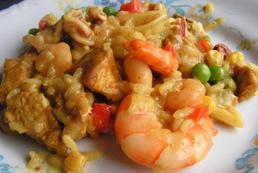 Paella z owocami morza - przepis