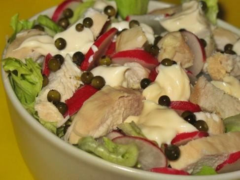 Sałatka z kurczaka z zielonym pieprzem – przepis