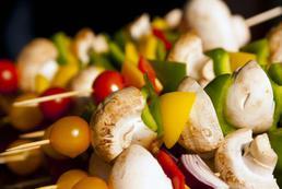 Szaszłyki wegetariańskie - przepis