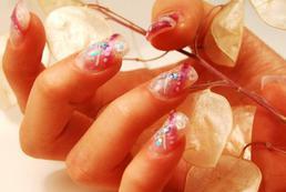 Wzory na paznokcie - przykładowy manicure