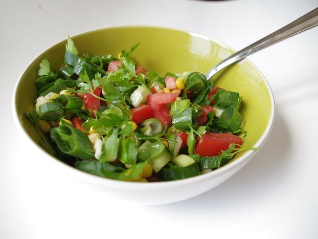 Zielona sałatka - przepis
