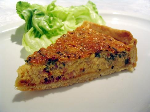 Quiche ze szpinakiem i marchewką - przepis